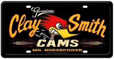Clay Smith Cams Kennzeichen in schwarz