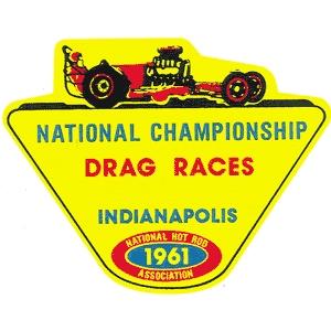 Rennstrecken-Aufkleber 1961 Indianapolis